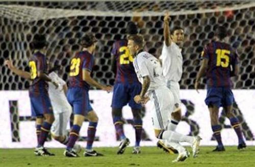 Beckham Barcelona goal